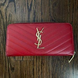 Saint Laurent Monogram YSL Zip-Around Wallet